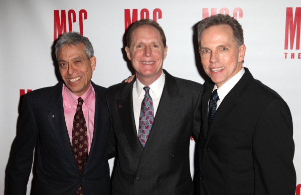 Lawrence D. Cohen, Michael Gore & Dean Pitchford  at Constantine Maroulis, Marin Mazzie & All the Starry Arrivals at MCC MISCAST 2012