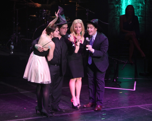 Nicole Parker, Josh Gad, Megan Hilty & Rory O'Malley at Jonathan Groff, Megan Hilty & More Perform at MCC's MISCAST 2012!