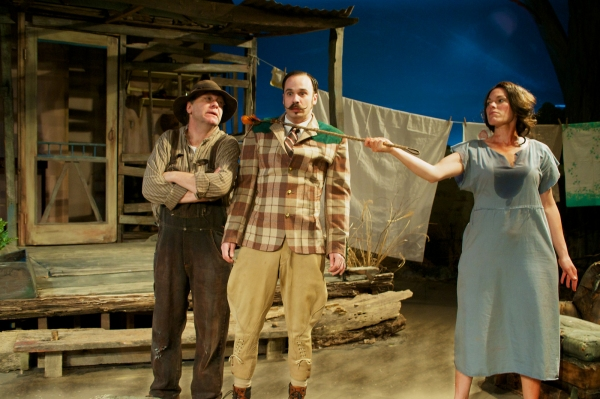 Carolyn Klein, Stuart Ritter, and Brad Armacost at Sneak Peek of Seanachai Theatre Company's A MOON FOR THE MISBEGOTTEN