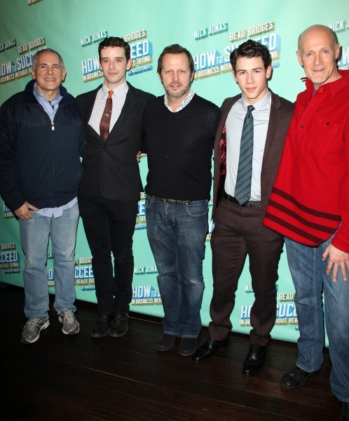 Craig Zadan, Michael Urie, Rob Ashford, Nick Jonas & Neil Meron 