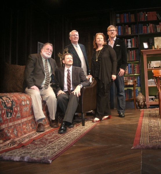 Mark St. Germain, Tyler Marchant, Jack Thomas, Carolyn Rossi Copeland, Robert Stillman at Opening Night at FREUD'S LAST SESSION