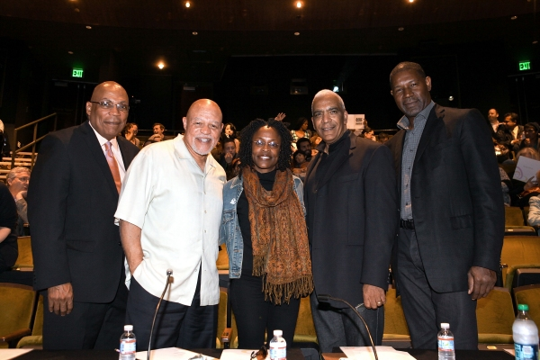 Celebrity judges Paris Barclay, John Beasley, Charlayne Woodard, Stan Lathan and Dennis Haysbert
