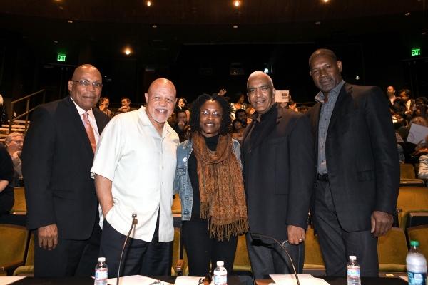 Celebrity judges Paris Barclay, John Beasley, Charlayne Woodard, Stan Lathan and Dennis Haysbert