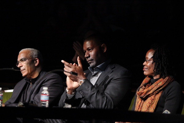 Celebrity judges Stan Lathan, Dennis Haysbert and Charlayne Woodard