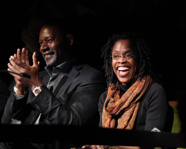 Celebrity judges actor Dennis Haysbert (L) and actress Charlayne Woodard (R)
