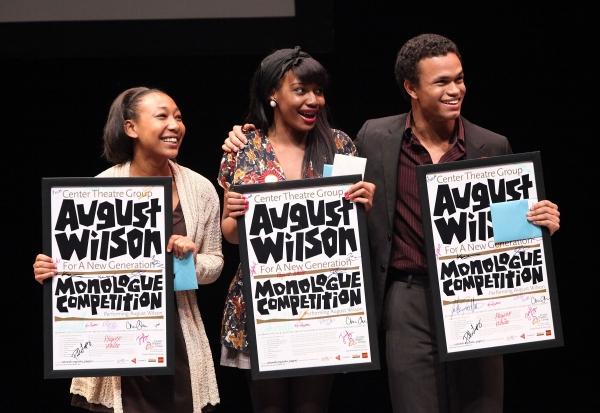 The top three finalists Tyler Edwards, Jasmine Hogan and Christopher Smith  Photo