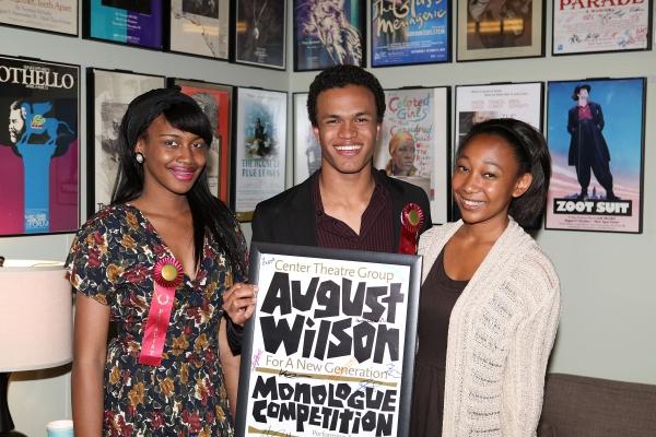 Student performer finalists Jasmine Hogan, Christopher Smith and Tyler Edwards Photo