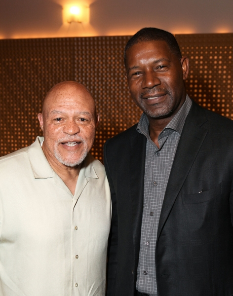 Celebrity judges John Beasley (L) and Dennis Haysbert (R)