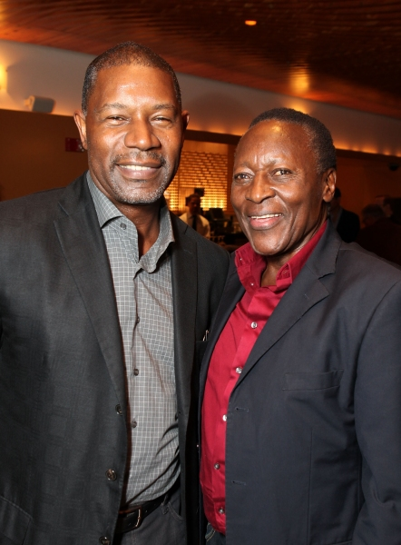 Celebrity judge Dennis Haysbert (L) and actor Oliver Litondo (R)