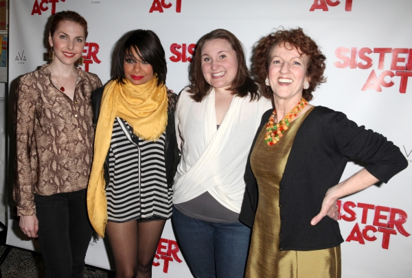 Marla Mindelle, Sarah Bolt & Audrie Neenan with Raven Symone at Raven-Symone SISTER ACT Debut After Party!