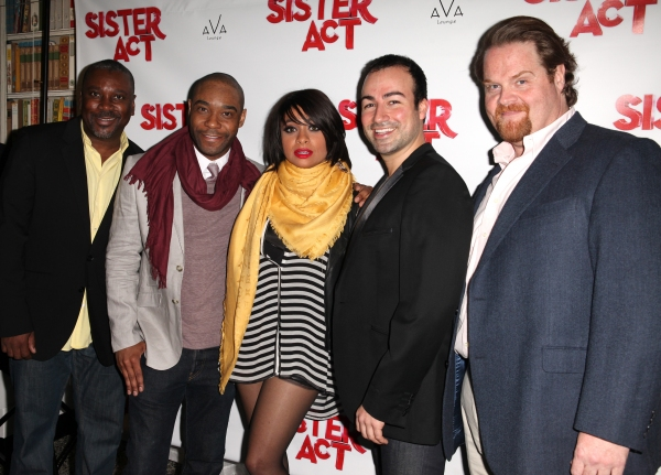 Kingsley Leggs, Demond Green, Caesar Samayoa & John Treacy Egan at Raven-Symone SISTER ACT Debut After Party!