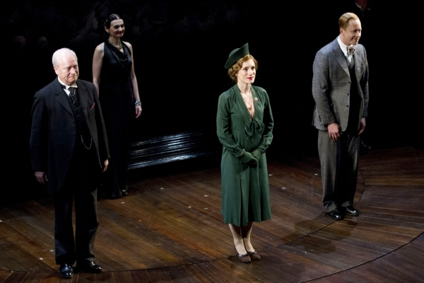 David Killick, Charlotte Randle and Daniel Betts at THE KING'S SPEECH Press Night Curtain Call and After Party