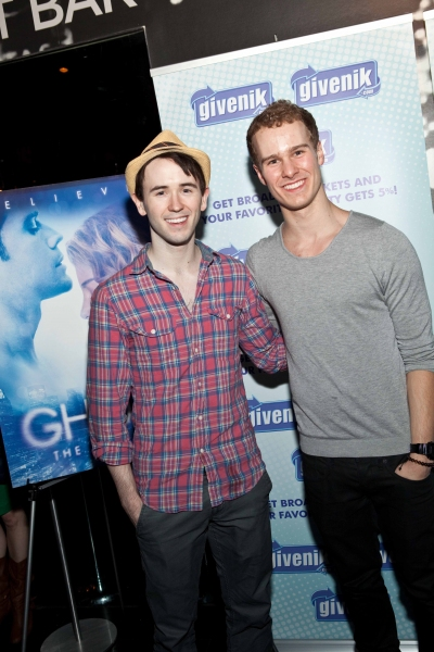 Garett Hawe and Ryan Steele of 'Newsies' at Givenik Teams with GHOST for Post-Show Benefit!