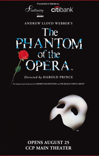 It's Official: THE PHANTOM OF THE OPERA To Premiere in Manila, 8/25-10/14
