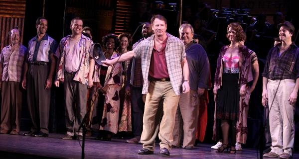 Tom Wopat & Company at PIPE DREAM's Opening Night Curtain Call!