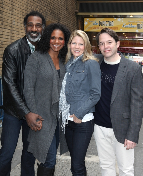 Audra McDonald, Norm Lewis, Kelli O'Hara & Matthew Broderick at Audra McDonald & Norm Lewis Welcome New Neighbors Kelli O'Hara & Matthew Broderick to the Block!