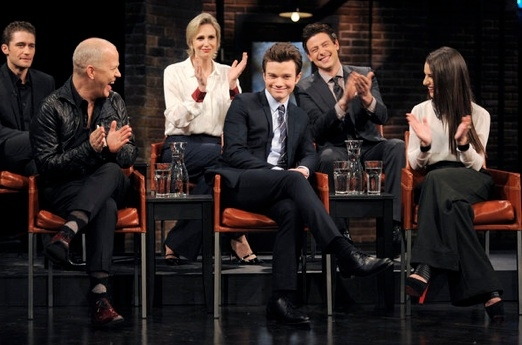 Matthew Morrison, Ryan Murphy, Jane Lynch, Chris Colfer, Cory Monteith & Lea Michele