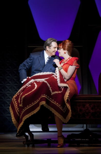 Beau Bridges and Tammy Blanchard at First Shots of Nick Jonas & Michael Urie in HOW TO SUCCEED IN BUSINESS WITHOUT REALLY TRYING!