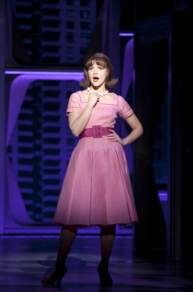 Rose Hemingway at First Shots of Nick Jonas & Michael Urie in HOW TO SUCCEED IN BUSINESS WITHOUT REALLY TRYING!