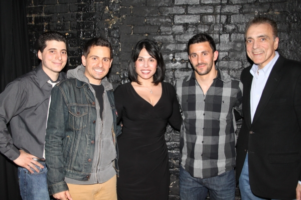 Carlo Rivieccio, Charles Messina, Gina Ferranti, Jason Cerbone and Ernest Mingione  at Charles Messina's TENEMENT PLAYS