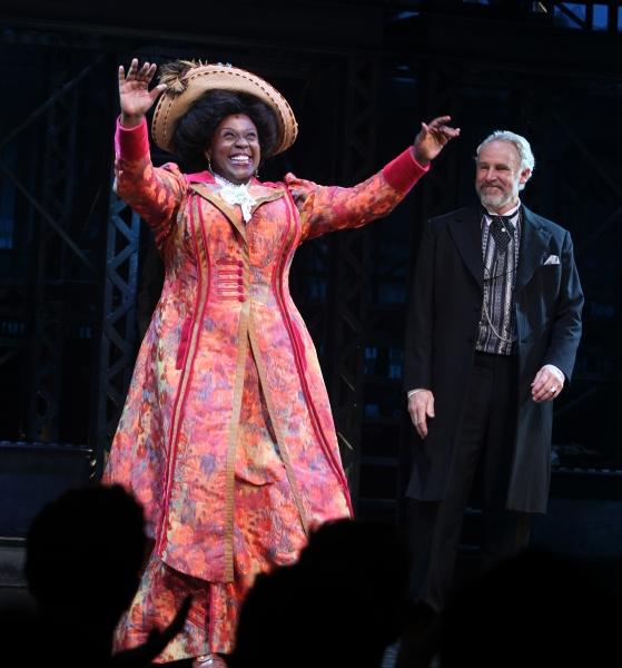 Capathia Jenkins & John Dossett at NEWSIES Opening Night Curtain Call!