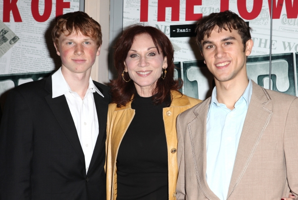 Marilu Henner & sons Joseph & Nicholas  at NEWSIES Opening Night Theatre Arrivals!