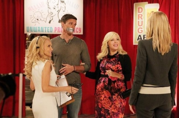 Kristin Chenoweth, Hartley Sawyer, Jennifer Aspen & Leslie Bibb at Sneak Peek - GCB 'Sex is Divine' Episode, 4/8