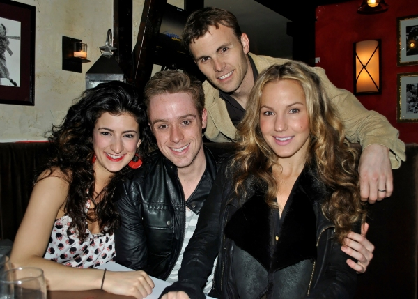 ROCK OF AGES' Tessa Alves, Cody Scott Lancaster, Tony LePage, and Katie Webber