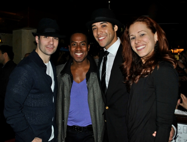 Mike Antonecchia, Rashad Naylor (ROCK OF AGES), Dan Domenech, and Heather Parcells