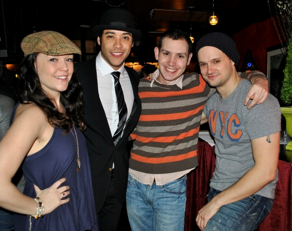 Cameron Adams (NICE WORK IF YOU CAN GET IT), Dan Domenech, Sam Gooley, and Jeremy Woodard (ROCK OF AGES)