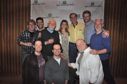 Christopher McGovern, Daniel C. Levine, Tom Jones (Book and Lyrics), Janine DiVita, Nick Wyman, Edward Watts, Ryan Alexander, Jamie LaVerdiere and Erick Devine at Musicals In Mufti Presents ROADSIDE