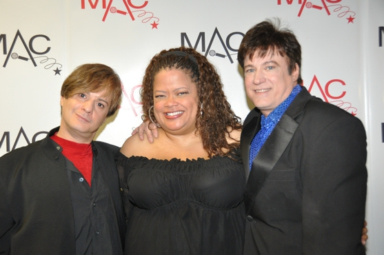 Tommy Femia and Rick Skye (Duo or Group Musical Impersonation) with presenter Natalie Photo