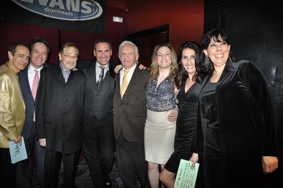 Jason Graae, Eric Comstock, Phil Ramone, Ervine Drake, Barbara Comstock and Christine Pedi