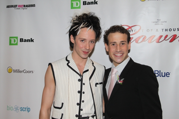 Johnny Weir and Victor Weir-Voronov at Night of 1000 Gowns Red Carpet!