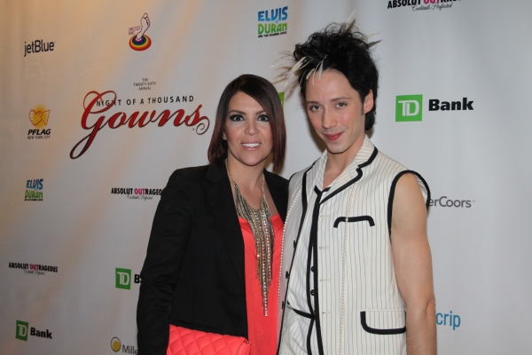 Lori Michaels and Johnny Weir at Night of 1000 Gowns Red Carpet!
