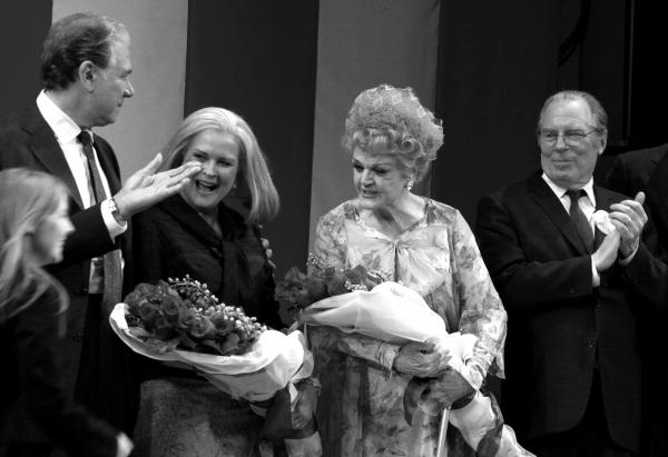 John Larroquette, Candice Bergen, Angela Lansbury & Michael McKeon at Gore Vidal's THE BEST MAN Opening Night Bows
