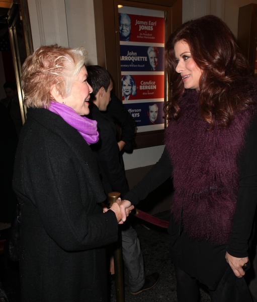 Ellen Burstyn & Debra Messing at GORE VIDAL's THE BEST MAN Starry Theatre Arrivals!