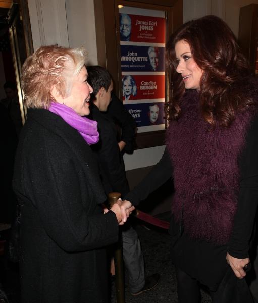 Ellen Burstyn & Debra Messing at GORE VIDAL's THE BEST MAN Starry Theatre Arrivals!