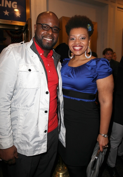 J. Bernard Calloway & Carmen Ruby Floyd at GORE VIDAL's THE BEST MAN Starry Theatre Arrivals!
