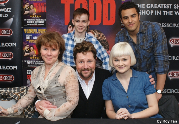 Imelda Staunton, James McConville, Michael Ball, Lucy May Barker and Luke Brady at Michael Ball, Imelda Staunton and More Sign SWEENEY TODD Albums at Dress Circle London