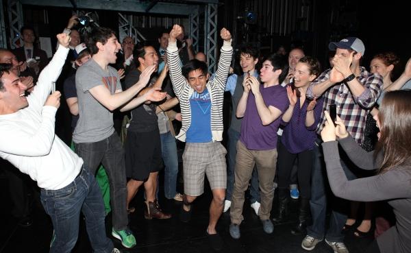 Aaron J. Albano with Tommy Bracco, Ben Fankhauser, Alex Wong, Kyle Coffman, Andy Richardson, Kara Lindsay, Jeremy Jordan & Company