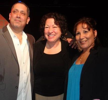 Justice Sonia Sotomayor at Justice Sonia Sotomayor Surprises GROWING UP GONZALES Cast at Jan Hus Playhouse