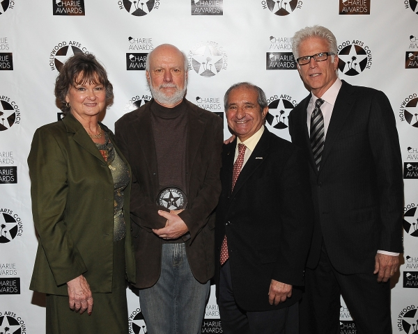 President of The Hollywood Arts Council Nyla Arslanian, Director James Burrows, Event Producer Oscar Arslanian and actor Ted Danson