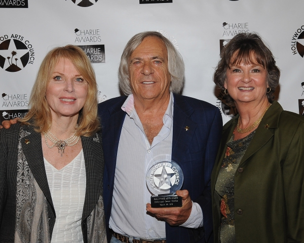 Mariette Hartley, Hollywood Center Studios President and the recipient of The Hollywood Arts Award Alan Singer and President of The Hollywood Arts Council Nyla Arslanian at Hollywood Arts Council Raises Record Amount at Annual Charlie Awards Luncheon