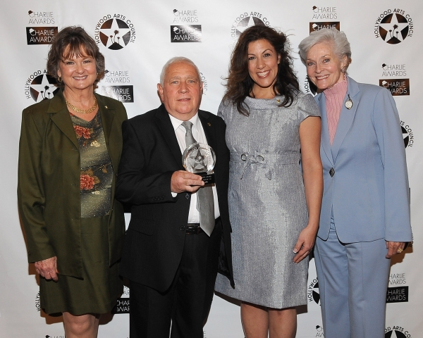 President of The Hollywood Arts Council Nyla Arslanian, Frankie Competelli, Ann Portenza and actress and former Miss America Lee Meriwether