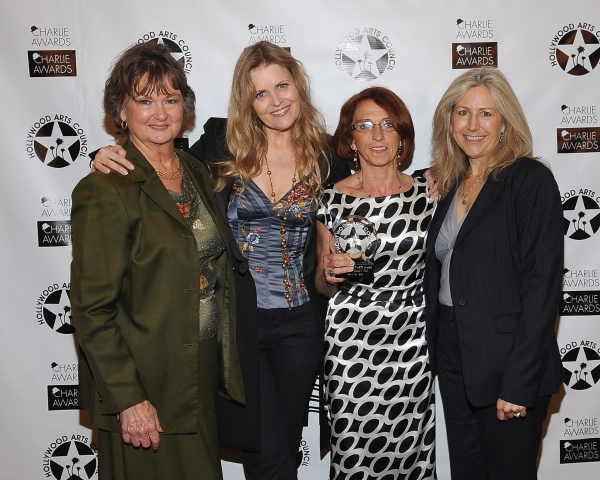 President  of  The Hollywood Arts Council Nyla Arslanian, jazz singer Tierney Sutton, Cirque Du Soleil's Iris Artistic Director Denise Biggi and event Co-Chair Kate Langrall Folb at Hollywood Arts Council Raises Record Amount at Annual Charlie Awards Luncheon