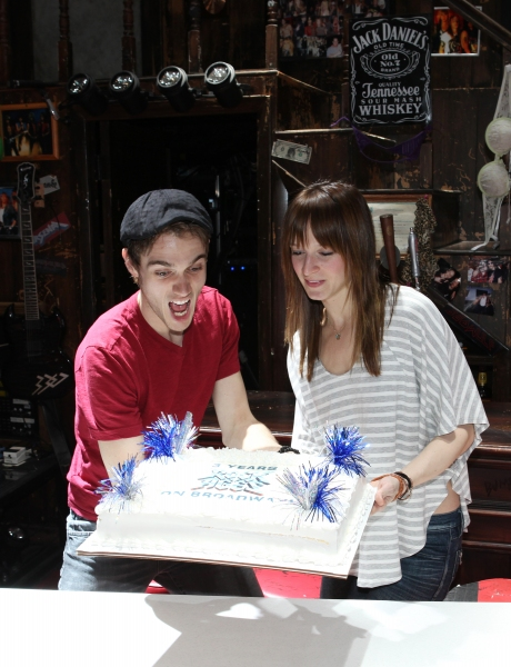 Justin Matthew Sargent & Emily Padgett at ROCK OF AGES Turns 3 on Broadway!