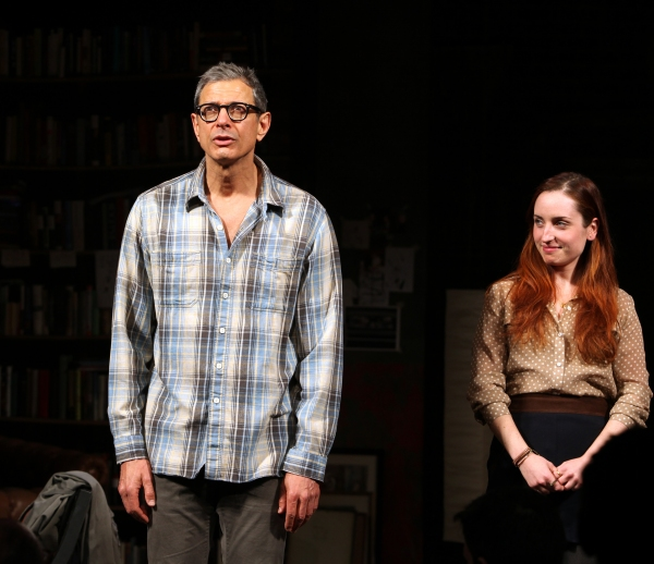Jeff Goldblum &  Zoe Lister-Jones  at Jeff Goldblum, Justin Long & Zoe Lister-Jones Take Premiere Bow in SEMINAR!