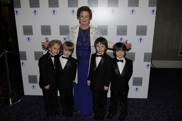 Ann Emery and the boys from Billy Elliot