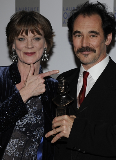 Samantha Bond and Mark Rylance